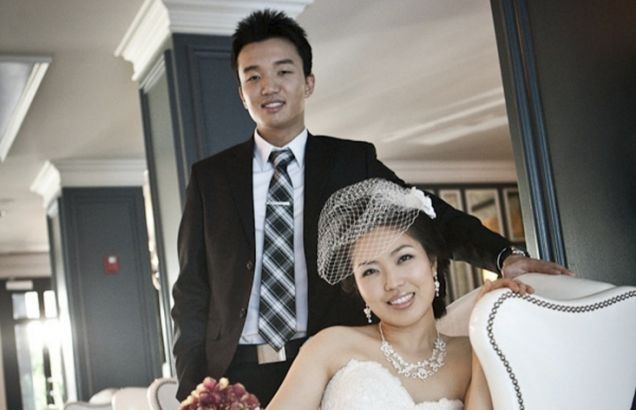 Newlyweds Samuel Kim and Helen Oh are pictured in handout photograph
